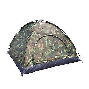 חיצוני נייד שכבה אחת אוהל קמפינג הסוואה 3-4 אדם עמיד למים דיג קל משקל
