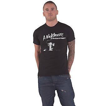 A Nightmare On Elm Street T Shirt Freddie Kruger face new Official Mens Black