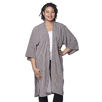 Brown and Green Pattern Duster Kimono 105X64 CM