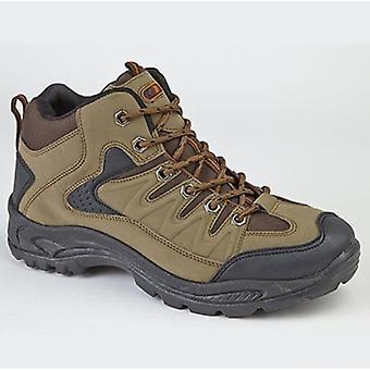 DEK Ontario Mens Lace Up Trail Trek Mid Ankle Boots Khaki