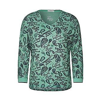 Cecil 315473 T-Shirt, Clover Green Melange, L Donna