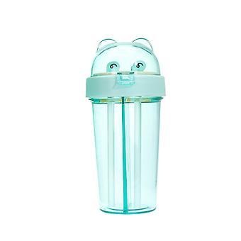 Vasos de plástico para beber al aire libre con pajitas