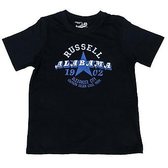 Boy's Russell Athletic SS Crew Neck T-Shirt in Blue