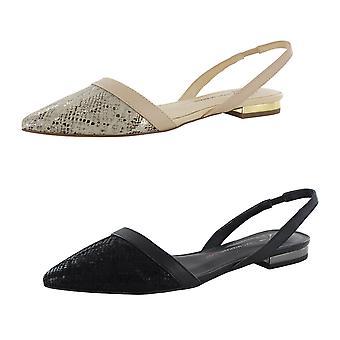 Isaac Mizrahi Live Womens Grace Leather Flat Shoes
