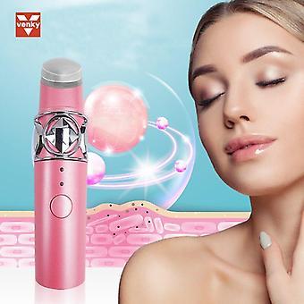 Ultrasonic Electric Eye Lip Massage Device Eye Beauty Instrument|Home Use Beauty Devices(Pink)