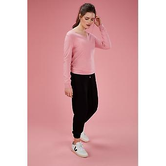 Loop Cashmere V Neck Sweater In Tea Rose