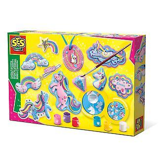 SES Creative - Barn enhörningar Gjutning och målning Set 5-12 år (flerfärg)