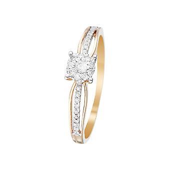 Anillo 'La Promesa' Oro Amarillo y Diamantes