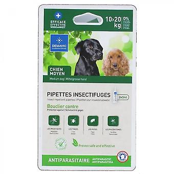 Demavic Set Of 2 Insect Repellent Pipettes - For Medium Dogs From 15 To 30 Kg