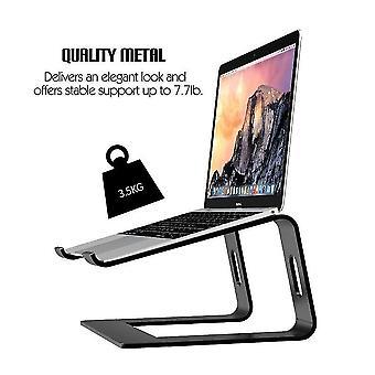Supporto per laptop Supporto per computer in alluminio Riser Porta notebook in metallo (nero)