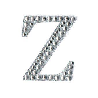 5cm Klar Selvklebende Diamante Bokstaver - Z | Diamante Edelstener Utsmykninger