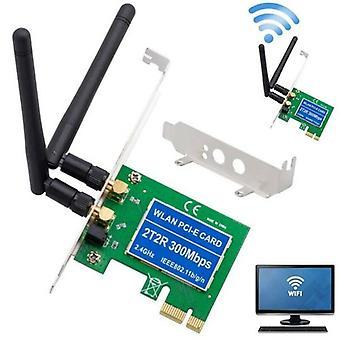 PCI-Express 300Mbps Langaton WiFi-kortin sovitin Profiilikiinnike Windows 7 / 8 / 10