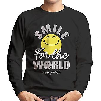 Smiley World Smile For The World Men's Sweatshirt