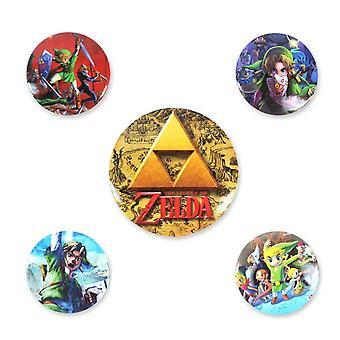 The Legend Of Zelda Classics Badge Set (5er Pack)