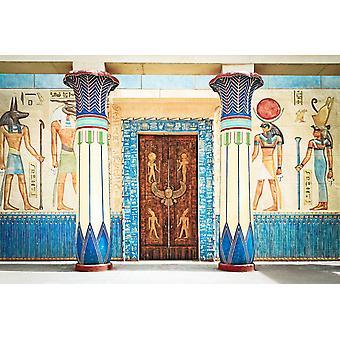 Tapetmaleri Gammel egyptisk skriving på stein i Egypt