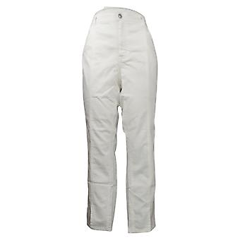 Lisa Rinna Kollektion Damen Jeans Weiß Denim w/ Naht Detail Weiß A366189