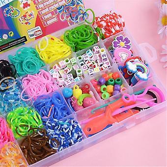 Jewelry sets 24 grid acrylic beaded children's beaded toy diy handmade girl beaded necklace bracelet puzzle