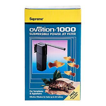 Supreme Ovation Submersible Power Jet Filter - Model 1000 - 265 GPH (Up to 80 Gallons)