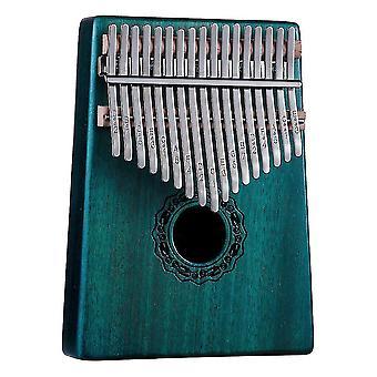 17 Keys kalimba thumb piano beginner mahogany musical instrument green