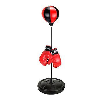 Sport Boxing Set Punching Bag With Gloves Punching Ball For Kids Adjustable  & Practical Jokes