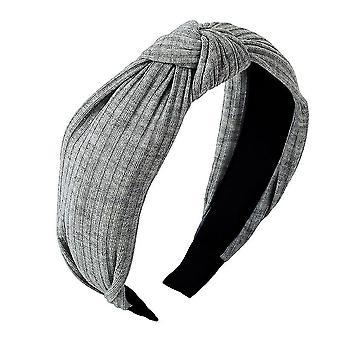 Egyszínű szatén csomózott hajpánt(Szürke)