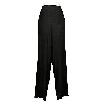 IMAN Global Chic Kvinner Pluss Bukser Strikke Pull-On Black 746048