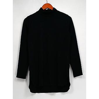 Isaac Mizrahi en direct! Top Essentials Mock Neck Knit Tunique Noir