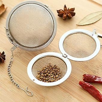 3 Größe Edelstahl Tee Infuser Kugel Verriegelung Gewürz Tee Ball Sieb Mesh Infuser Tee Filter Siebe Küche Zubehör
