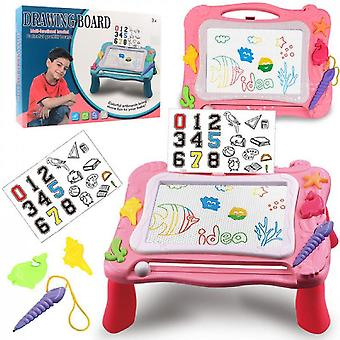 Magnetisches Zeichenbrett für Kinder 3 in 1 Graffiti-Zeichenbrett Für Kinder Baustein Aktivitätstabelle