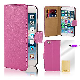 Premium Book Wallet Case Cover for Apple iPhone 6 Plus (+ 6S Plus) - Purple