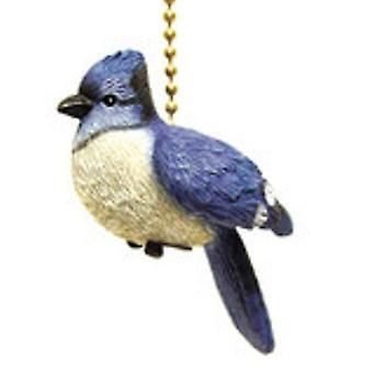 Songbird Crested Blue Jay Bird Ceiling Fan Light Pull
