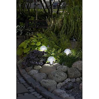 Konstsmide アッシジ LED ソーラー ガーデンきのこの形のライト