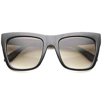 Bold Flat Top getinte lens oversize vierkante zonnebril 54mm