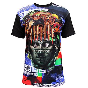 Crooks & Castles Blueprint Men's T-Shirt Black Multi