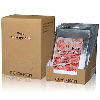 Royal Massage Natural Sea Salt Mineral Massage Scrubbing Salts (80g packets x 10) - Rose