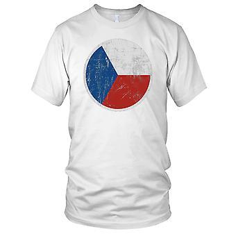 Czech Flag Roundel Ladies T Shirt