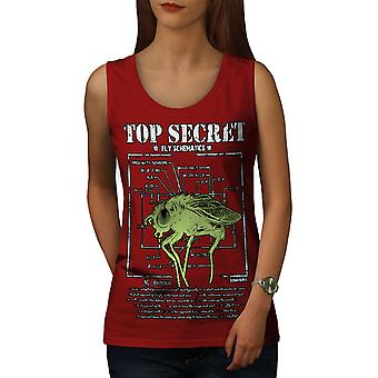 Insect Science Fly Women RedTank Top | Wellcoda