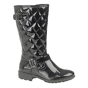 Boulevard Girls High Leg Twin Buckle/Zip Quilted Fashion Boots