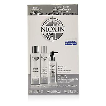 Nioxin 3d Care System Kit 1 - For Natural Hair Light Thinning Light Moisture - 3pcs