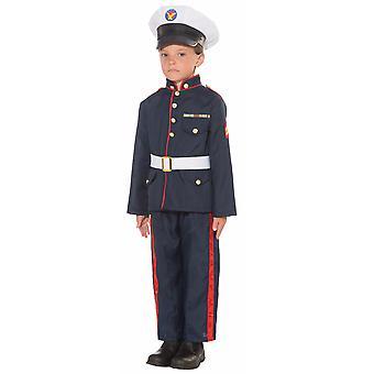 Formale Marine Corps Kapitän Militär Offizier blau Kostüm Uniform Boys