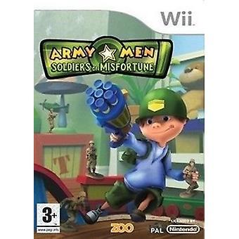 Leger mannen soldaten van Misfortune (Wii)-fabriek verzegeld