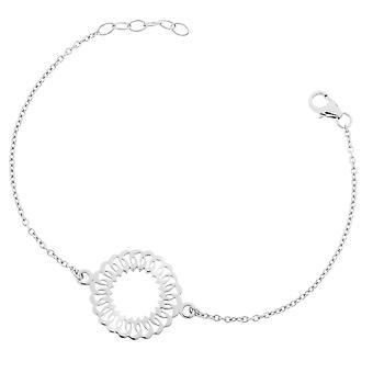 Orphelia plata 925 pulsera centro círculo ZA-7075