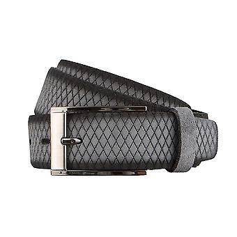 BERND GÖTZ velour leather belts men's belts leather belt grey 3135