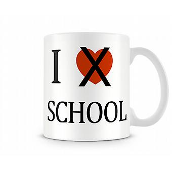 Ik hou niet van School bedrukte mok