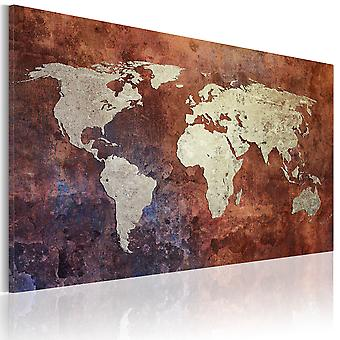 Canvas Print - Rusty map of the World