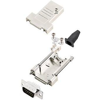 encitech DTSL09-T-JSRG+HDP15-K 6355-0041-01 D-SUB pin strip set 180 ° Number of pins: 15 Solder bucket 1 Set