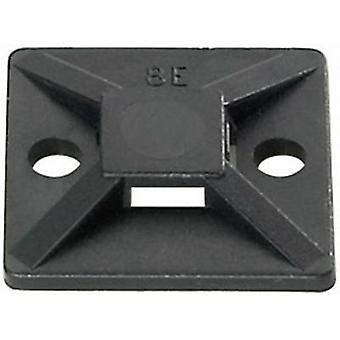 Montaż na kablu MB3A-N66-BK-C1 HellermannTyton 151-28320 samoprzylepne, śruby ustalające 4 x wątku, bezhalogenowe, odporny na UV, odporne na warunki pogodowe Black 1 szt.