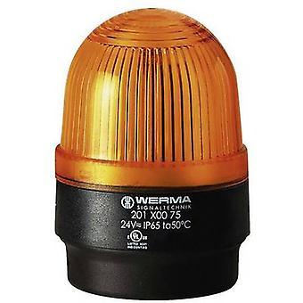 Luz Werma Signaltechnik 202.300.55 202.300.55 Flash amarillo 24 V DC