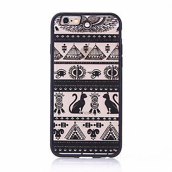 Móvil caso mandala para Apple iPhone 8 diseño funda adorno egipcio los caracteres cubierta parachoques negro