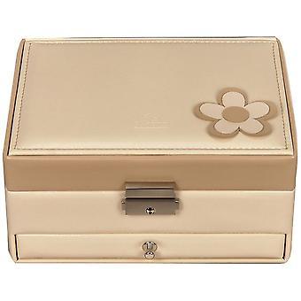 Sacher smycken box grädde beige Castle smycken spegelhuset BELLA FIORE